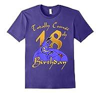 Disney Aladdin Genie Totally Cosmic 18th Birthday T-shirt Purple
