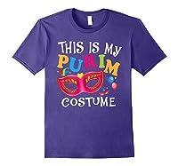 This Is My Purim Costume Jewish Purim Gift Shirts Purple