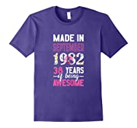Made In September 1982 38th Birthday September Girl Shirts Purple