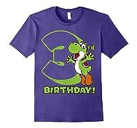 Super Mario Yoshi 3rd Birthday Action Portrait T-shirt Purple