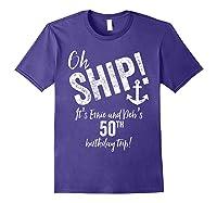 Ernie And Debs Birthday Cruise Shirts Purple
