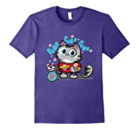 The Big Bang Theory Purr Purr Purr Shirts Purple