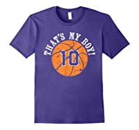 Unique That\\\'s My Boy #10 Basketball Player Mom Or Dad Gifts T-shirt Purple