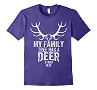 S My Family Tree Has A Deer Stand In It Gifts Hunting T-shirt Purple