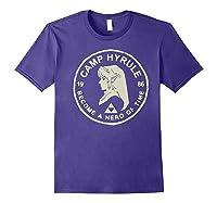 Nintendo Zelda Link Camp Hyrule 1986 Craft Premium T-shirt Purple