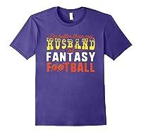 Football Mommy Shirts For Soccer Gift Better Husband Purple