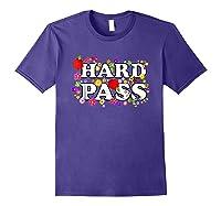 Hard Pass Floral Baseball Feminist Shirts Purple