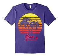 Goa 80s Summer Beach Palm Tree Sunset Shirts Purple