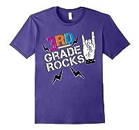 3rd Grade Rocks, 1st Day Of School Shirt Students Teas Purple