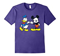 Disney Mickey Mouse And Donald Duck Best Friends T-shirt Purple