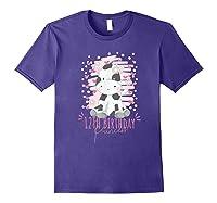 12th Birthday Princess Girl 12 Years Old Cow Lover B Day Shirts Purple