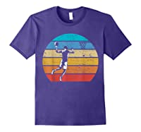 Vintage Basketball Retro Vintage Style Basketball Gift Shirts Purple