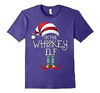 I'm The Whiskey Elf Family Matching Christmas Gift Group Shirts Purple