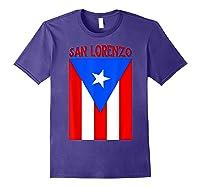 Puerto Rican San Lorenzo Puerto Rico Flag Shirt Purple