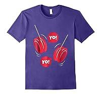 Yo-yo Shirt Yoyo Ball T-shirt Gift Purple