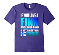 Funny Finnish Finn Pride Finland Flag Love A Finn Shirts Purple