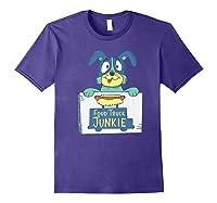 Food Truck Junkie Funny Cartoon Dog Shirts Purple
