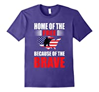 Home Of The Free Because Of The Brave T-shirt Purple