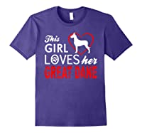 Cute This Girl Loves Her Great Dane Dog Lover T-shirt Purple