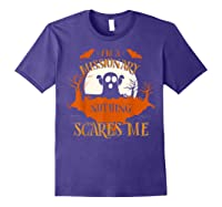 Missionary Nothing Scares Me Funny Halloween T-shirt Purple