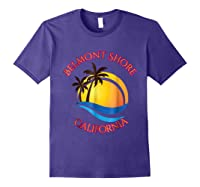 Belmont Shore Beach Surf California Gift Shirts Purple