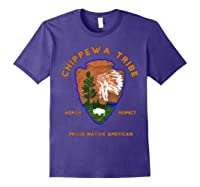 Chippewa Tribe Native American Indian Pride Respect Honor T-shirt Purple