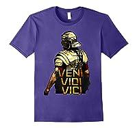 Veni Vidi Vici Spqr Roman Empire Quote Shirts Purple
