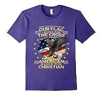 Christian Patriotic American Flag Shirts Purple