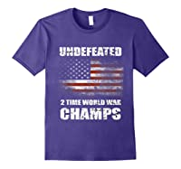 Undeted 2 Time World War T Shirt 4th Of July Shirts Gifts T-shirt Purple