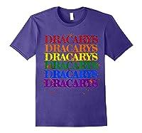 Dracarys Dragon Lovers Rainbow Lgbt Flag Gay Pride Lesbian T-shirt Purple