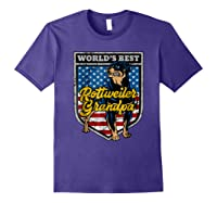 Worlds Best Rottweiler Grandpa Shirts Purple