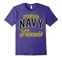 Proud Navy Fiance Shirt Purple