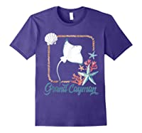 Grand Cayman Islands Turtle Tuna Stingray Blue Souvenir Gift T-shirt Purple