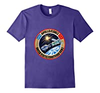 Apollo-soyuz Rendezvous Patch T-shirt Nasa History Purple