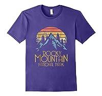 Vintage Rocky Mountains National Park Colorado Retro Shirts Purple