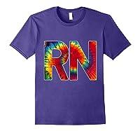 Nurses Groovy Tie Dye Shirts Purple