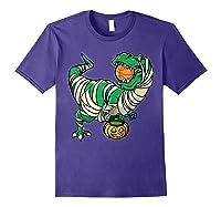 Funny Basketball Player T Rex Dinosaur Halloween Costume T-shirt Purple
