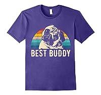 Retro Pug Gift Shirts Purple