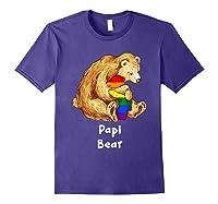 Papi Bear Proud Dad Lgbt Gay Pride Lgbt Dad Gifts Shirts Purple