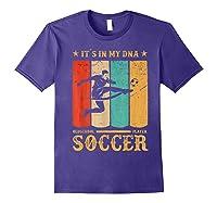Retro Vintage Soccer Design 1970s T-shirt Purple