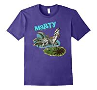 Madagascar Marty Painted Grass Poster Premium T-shirt Purple