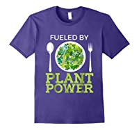 Fueled By Plant Power Vegetarian Shirts Purple