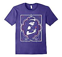 Disney Aladdin Jasmine Ornate Frame Rose Graphic T-shirt Purple