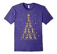 Dabbing Kangaroo Christmas Dab Christmas Tree Shirts Purple
