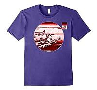 Famous Vintage Japanese Woodblock Art New Year's Sunrise Shirts Purple