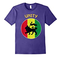 Rasta Live Up Unity Design Shirts Purple