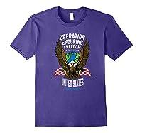 Operation Enduring Freedom Veteran Gift Shirts Purple