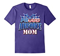 Proud Air Force Mom Shirt Mothers Day Patriotic Usa Military Purple