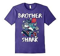 Brother Shark Doo Doo Bro Fun Uncle Birthday Gift Idea Shirts Purple
