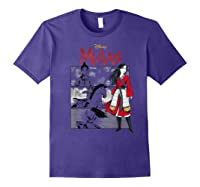 Mulan Live Action Comic Panels Shirts Purple